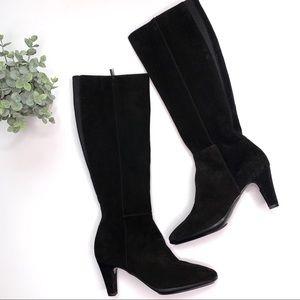 Aquatalia Black Leather Heeled Boots size 8 New